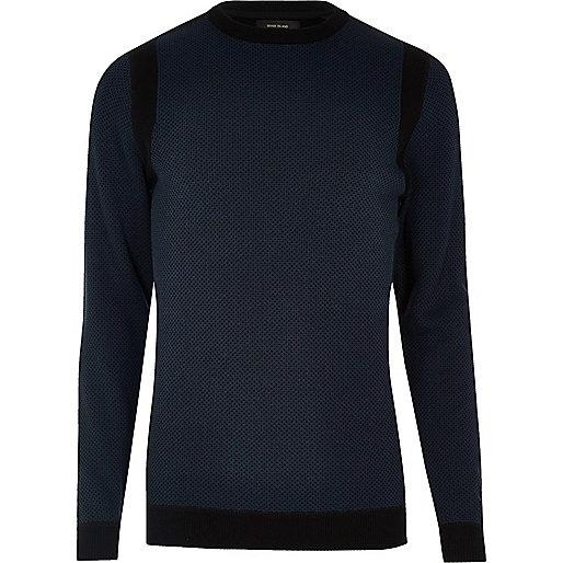 Navy blue crew neck jumper