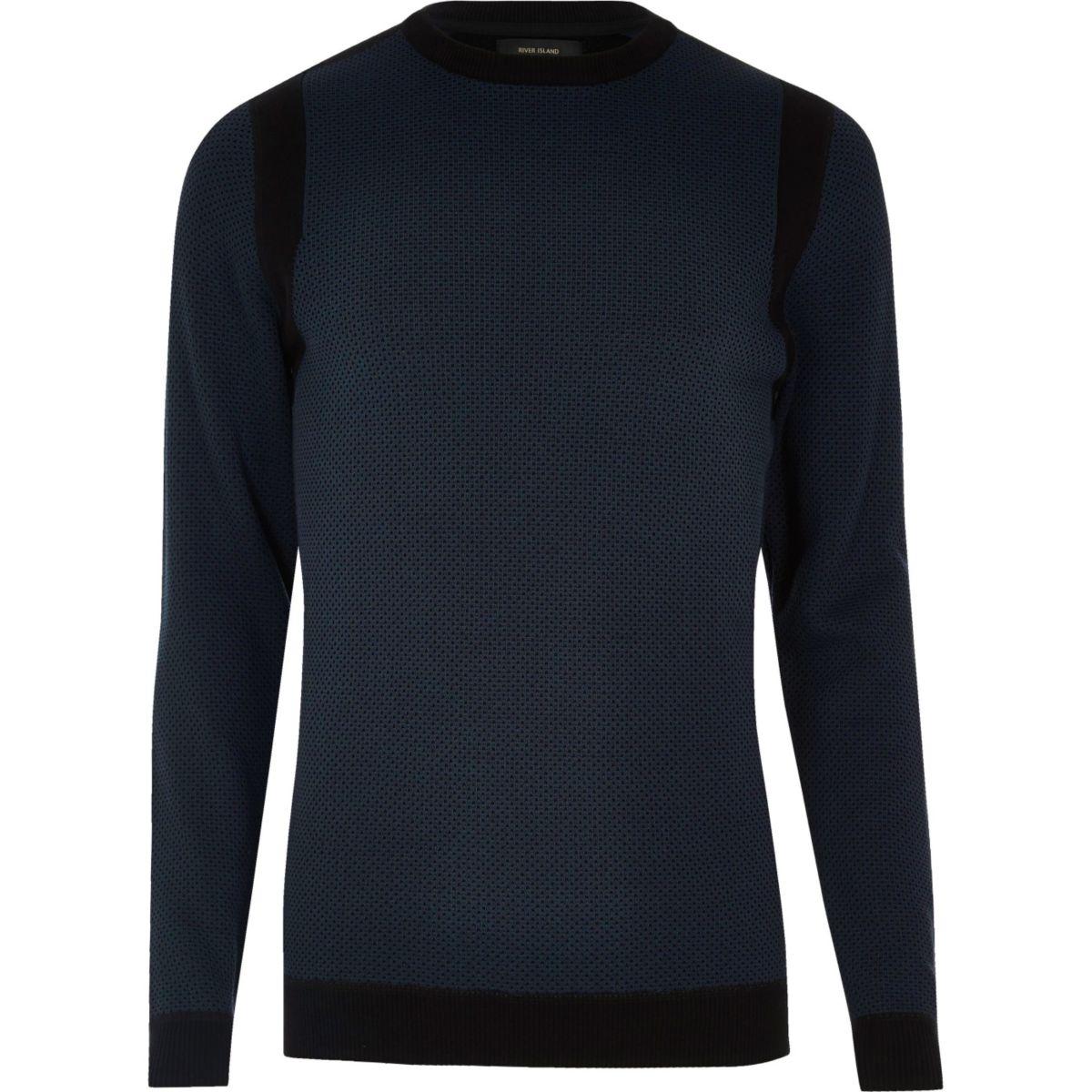 pull ras du cou bleu marine pulls cardigans soldes. Black Bedroom Furniture Sets. Home Design Ideas