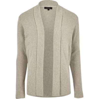 River Island Cardigan grège ouvert