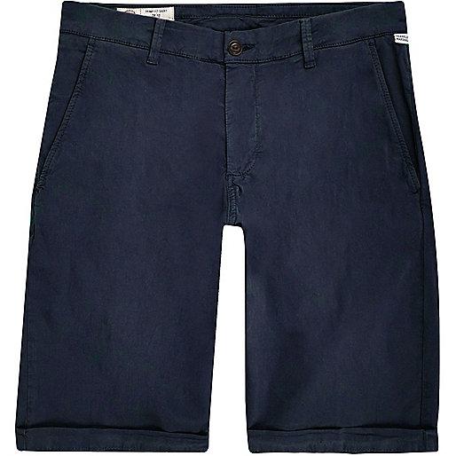 Franklin & Marshall – Blaue Skinny Fit Shorts
