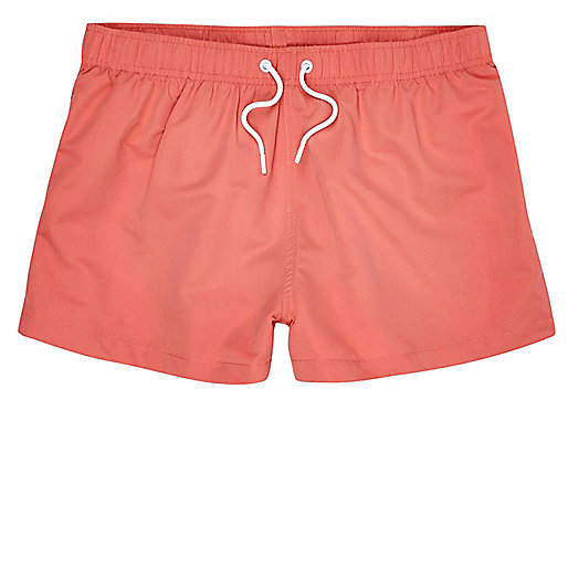 Coral slim fit swim shorts