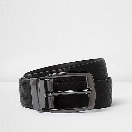 Black textured belt