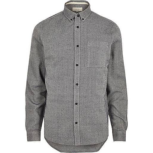 Navy casual twill shirt