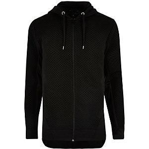 Black textured hoodie