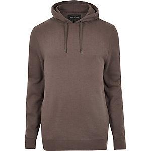 Donkerroze zachte hoodie