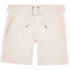 Ecru stripe casual shorts