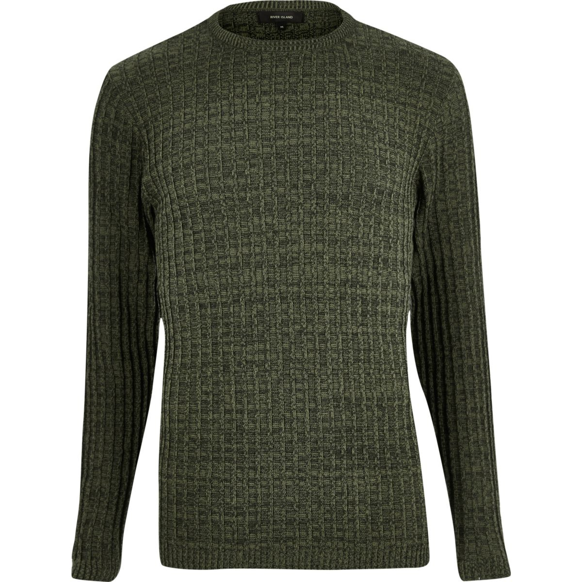 Dark green ribbed sweater