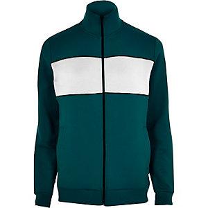 Turquoise panel track jacket