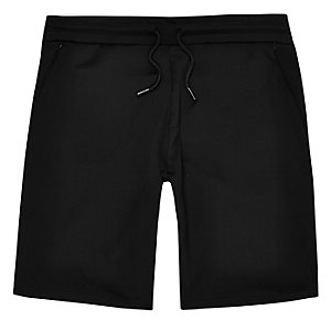 Black mesh casual shorts