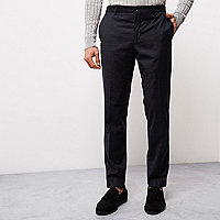 Navy blue flecked Jack & Jones smart trousers