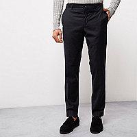 Navy blue flecked Jack & Jones smart pants