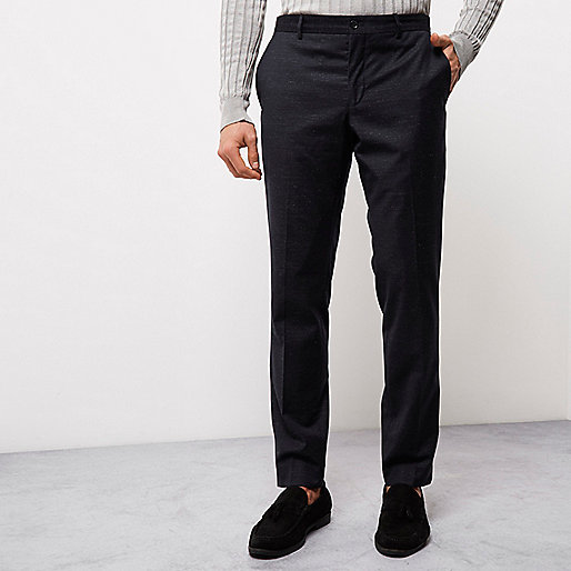 Navy blue flecked Jack & Jones smart pants