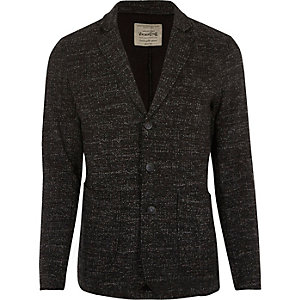 Dark grey Jack & Jones flecked jersey blazer