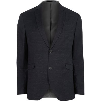 Jack and Jones Premium marineblauwe blazer van wolmix