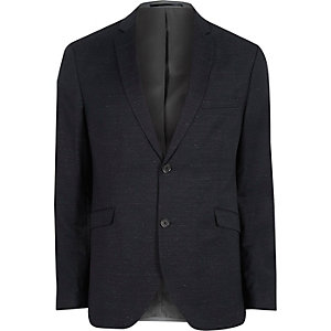 Navy Jack & Jones Premium wool blend blazer