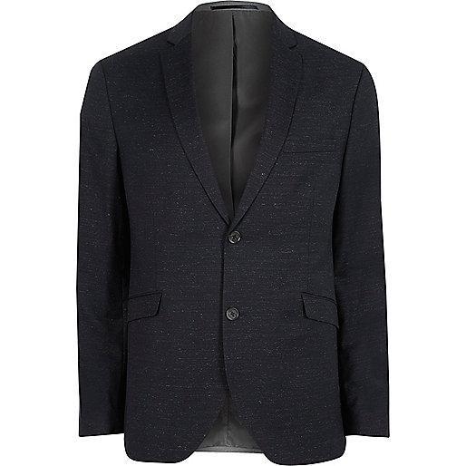 Navy Jack & Jones Premium wool blend blazer