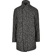 Grey Jack & Jones Premium shawl neck coat