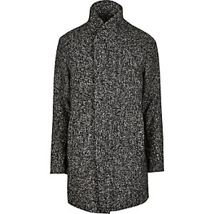 Grey Jack & Jones Premium shawl neck coat