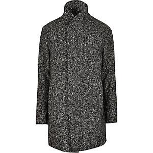 Jack & Jones Premium – Grauer Mantel mit Schalkragen