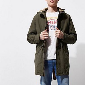 Dark green Jack & Jones Vintage parka jacket