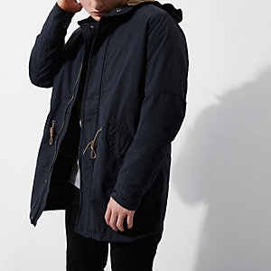 Jack & Jones - Marineblauwe vintage parka