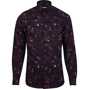 Purple print Jack & Jones Premium shirt