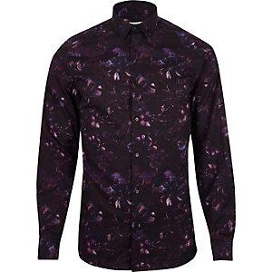 Jack & Jones Premium paars overhemd met print