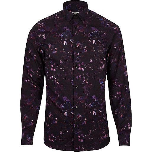 Purple print Jack & Jones Premium shirt