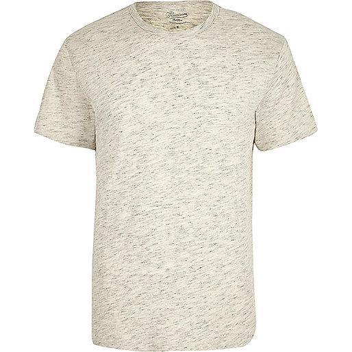 Ecru Jack & Jones crew neck T-shirt