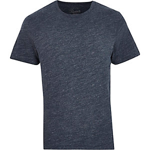 Navy Jack & Jones Premium crew neck T-shirt