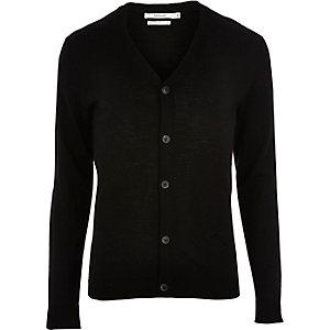 Jack & Jones zwart premium gebreid vest