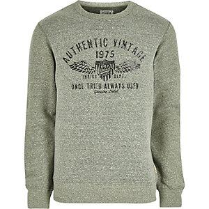 Jack & Jones Vintage – Grünes, weiches Sweatshirt