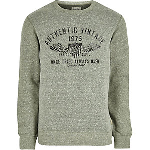 Green Jack & Jones Vintage soft sweatshirt