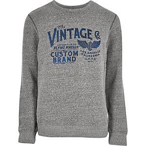 Grey Jack & Jones Vintage print sweatshirt