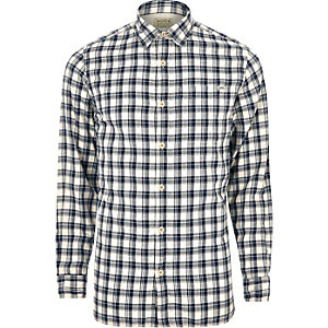 White Jack & Jones Vintage casual check shirt