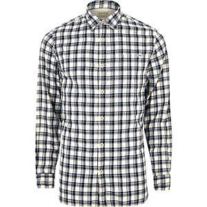 Chemise Jack & Jones Vintage à carreaux blanche casual
