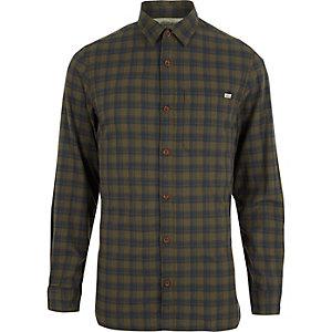 Jack & Jones Vintage – Dunkelgrünes, kariertes Hemd