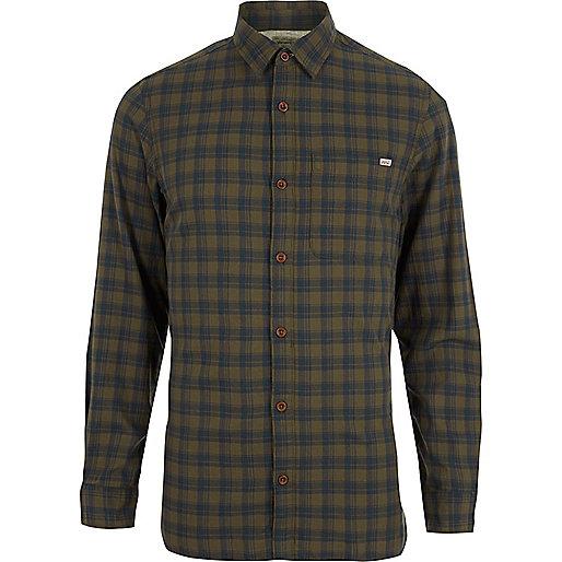 Dark green Jack & Jones Vintage check shirt