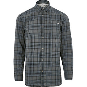 Grey Jack & Jones Vintage casual check shirt