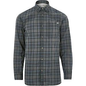 Grey Jack & Jones Vintage casual check shirt