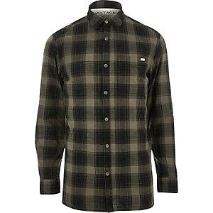 Jack & Jones Vintage donkergroen geruit overhemd