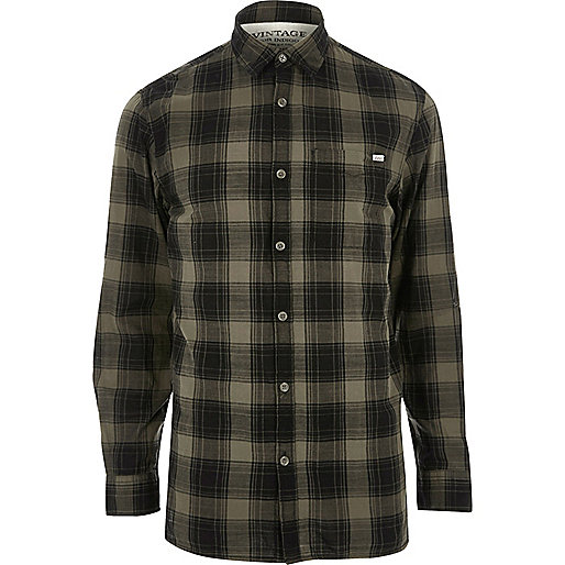 Dark green Jack & Jones Vintage check shirt