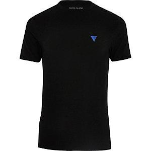 Black logo muscle fit T-shirt