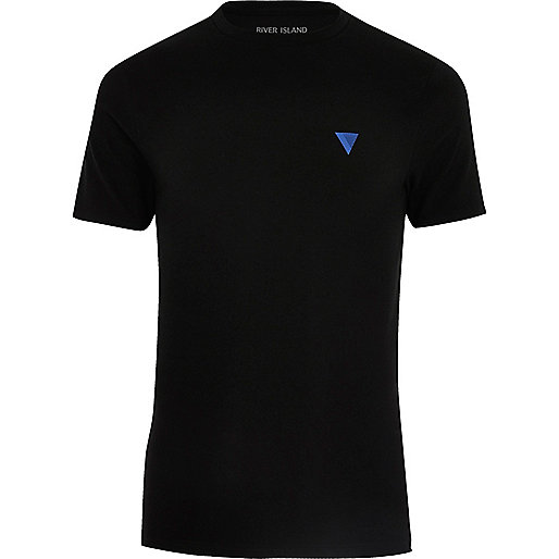 Black logo muscle fit T-shirt
