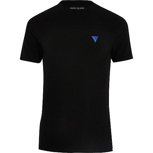 T-shirt noir moulant avec logo