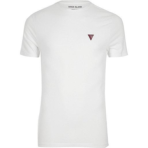 Weißes Muskelshirt mit Logo