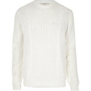Ecru cable knit jumper