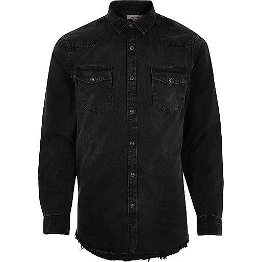 Little Boys' Embroidered Short Sleeve Black Denim Shirt $ 28 iClosam. Men Casual Short Sleeve Button Down Shirt Denim Jean Shirt. from $ 5 38 Prime. out of 5 Men's Casual Slim Fit Button Down Dress Shirt Long Sleeve Denim Work Shirts with Pocket. from $ 18 99 Prime. out of 5 stars 6. COOFANDY. Men's Casual Long Sleeve.