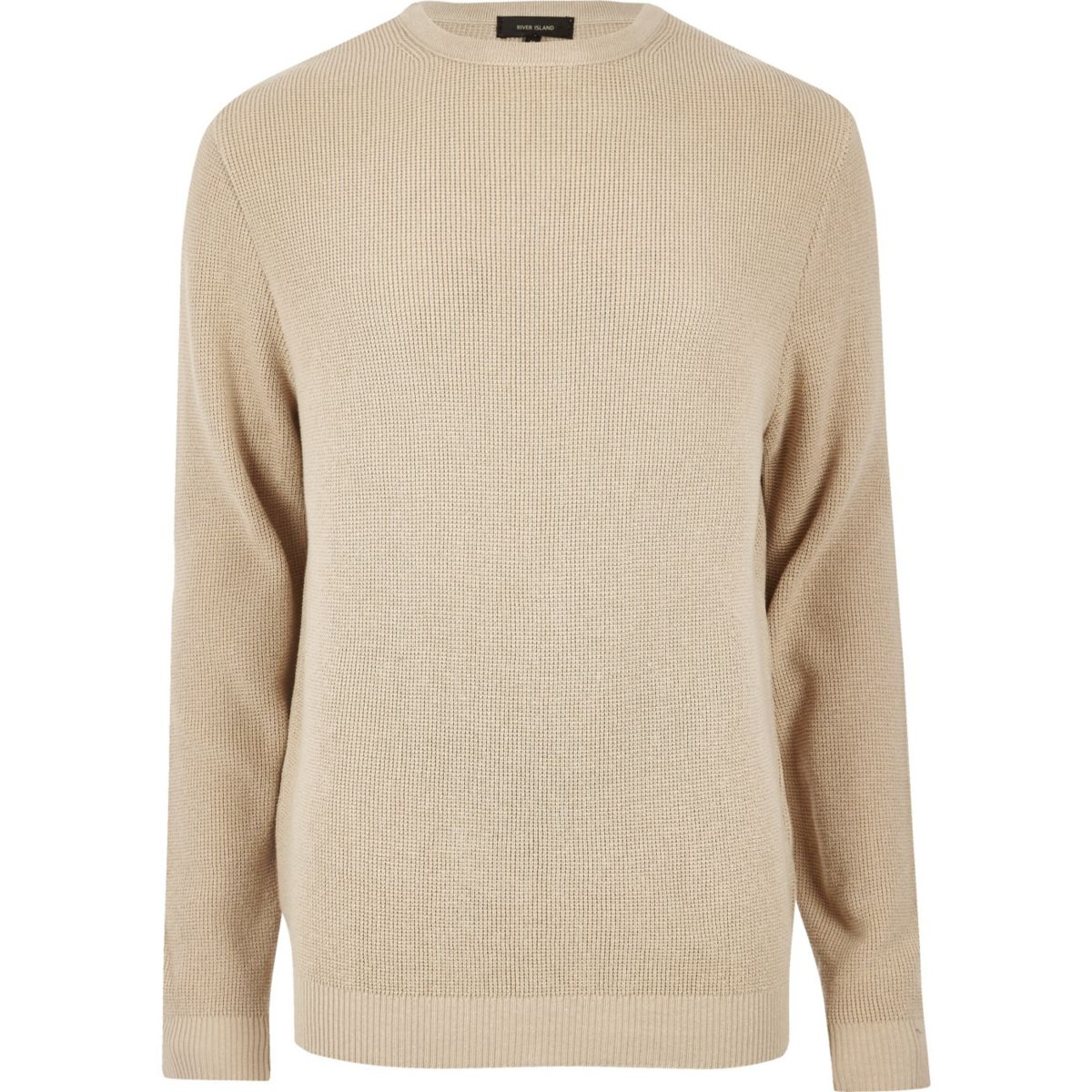 Camel textured jumper