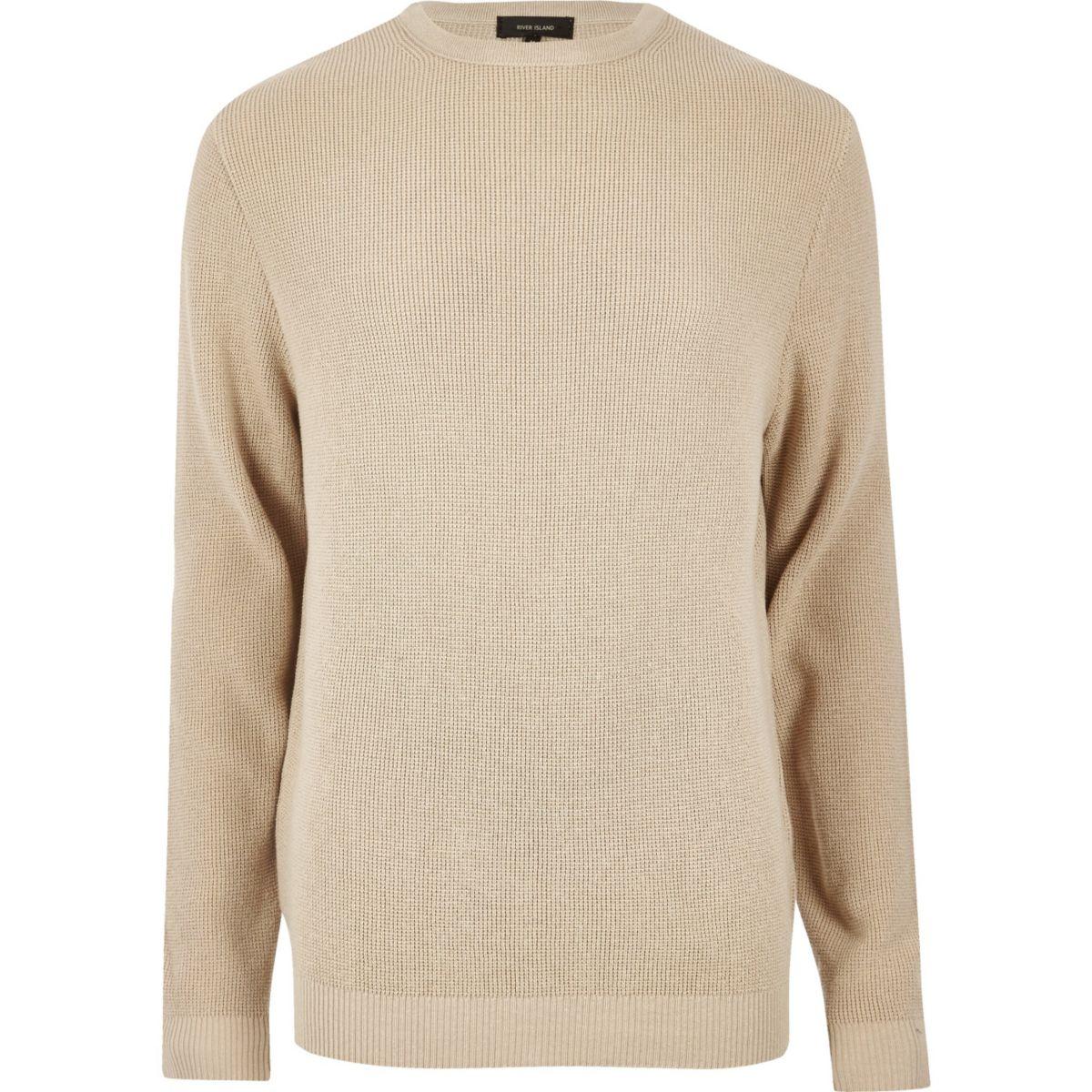 Camel textured sweater